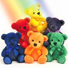 Daily Briefs: Super-Positive Rainbow Teddy Bear Monday / The Fast Pitch Love Rainbow, Taste The Rainbow, Over The Rainbow, Rainbow Colors, Rainbow Things, Rainbow Butterfly, Rainbow Art, Happy Colors, True Colors