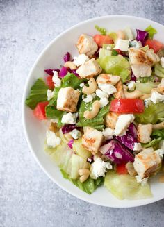 Chopped Salad with Chicken Great Salad Recipes, Salad Dressing Recipes, Healthy Recipes, Delicious Recipes, Easy Recipes, Chicken Pasta, Chicken Salad, Pasta Salad, Best Appetizers