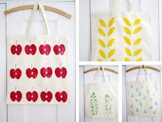 DIY Anleitung: Textildruck mit Naturmaterialien // diy tutorial: How to print on textile with natural materials via DaWanda.com