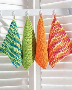 Bright & colorful crochet dishcloths