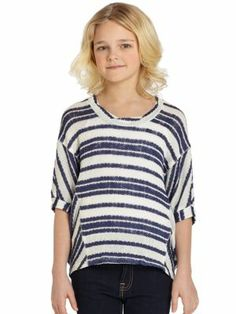 Splendid - Girl's Eyelet Sweatshirt - Saks.com