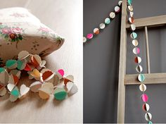 15 best diy paint chip projects. i'm thinking a table runner made out of circular paint chips