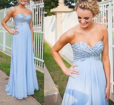 Newest Beading Chiffon Prom Dresses, The Charming Evening Dresses, Prom Dresses, Sweetheart Real Made Prom Dresses On Sale,