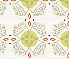 Acorns Graphic Repeat fabric by alissa_clark on Spoonflower - custom fabric