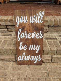 Handpainted wood wedding sign you will forever by ChicRusticSigns, $55.00