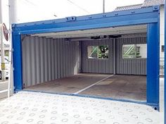 Plans To Design And Build A Container Home - Container House - Electric shutter garage 20 ft container 2 connection build-acontainerh. - Who Else Wants Simple Step-By-Step Plans To Design And Build A Container Home From Scratch? Container Home Designs, Container Shop, Storage Container Homes, Building A Container Home, Container Cabin, Shipping Container Buildings, Shipping Container House Plans, Shipping Containers, Casa Loft