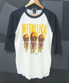 Metallica glam metal clothing glam rock band 3/4 by CuteClassic, $16.00