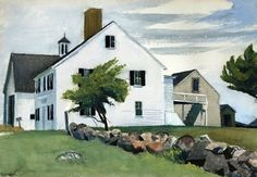 Edward Hopper: Farm House at Essex - Massachusetts, 1929