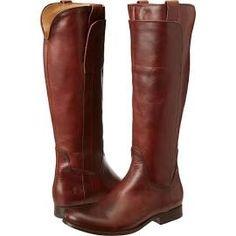 Frye Melissa Tall Riding Cowboy Boots Redwood Soft Vintage Leather : 7 B - Medium