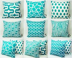 Too many teal pillow options! Which one is your favorite? I'm partial to #4