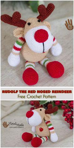 Rudolf The Red Nosed Reindeer [Free Crochet Pattern]
