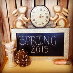 Hope you have time this week to enjoy the beauties of Spring. Stop in for all your indoor/outdoor home decor needs. #theclutterhoue #homedecor #clock #bunny