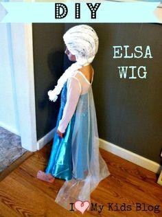 DIY Tutorial-how to make a #Frozen #Elsa Wig