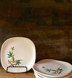 Salem China Woodhue Flair Dessert Plates by putnamandspeedwell