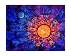 Luminary Modern Astronomy Sacred Geometry by shaylamaddox on Etsy