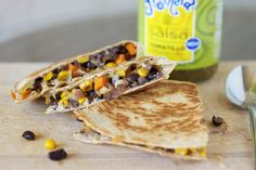 black bean and veggie quesadillas that are healthy
