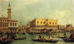 Giovanni Antonio Canal (called Canaletto),Piazzetta And The Doge's Palace From The Bacino Di San Marco oil painting reproductions for sale