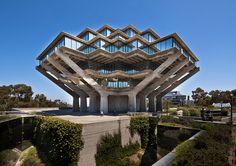 Geisel Library  Architect: William Pereira (1970)  Location: University of California at San Diego (La Jolla)