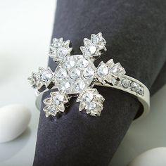 Diamante Snowflake Napkin Rings #Wedding #Weddings #WinterWedding #ChristmasWedding