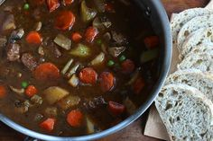 Best Old Fashioned Beef Stew - The Daring Gourmet Beef Casserole Recipes, Meat Recipes, Crockpot Recipes, Cooking Recipes, Old Fashioned Beef Stew, Classic Beef Stew, Beef Dishes, Soups And Stews, Beef Stews