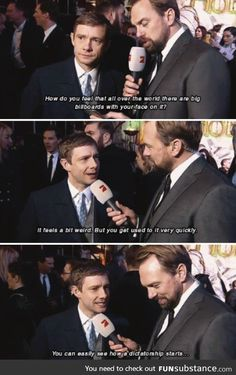He has the best interviews