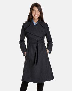 Aubrey Long Wool Robe Coat for Women | London Fog