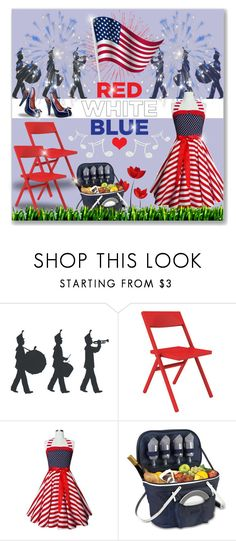 """""""Happy 4th, Polyfriends!  :)"""" by joy2thahworld ❤ liked on Polyvore featuring Alessi, Thos. Baker, Pinup Couture, picnic, fourthofjuly, fireworks and parade"""
