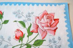 Check out this item in my Etsy shop https://www.etsy.com/listing/232926423/vintage-handkerchief-hankie-hanky-roses