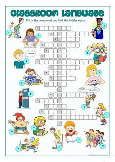 Classroom Language Crossword Puzzle - ESL worksheet by kissnetothedit Classroom Commands, Classroom Rules, Classroom Language, Toddler Classroom, Language School, Efl Teaching, Teaching English, Vocabulary Worksheets, Printable Worksheets