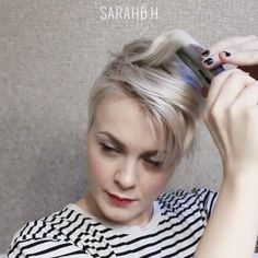 "3,526 tykkäystä, 126 kommenttia - Short Hair Dont Care ✂ Pixie (@nothingbutpixies) Instagramissa: ""Check out another great styling video by @sarahb.h . Comment below 1. Yes post more of these 2.…"""