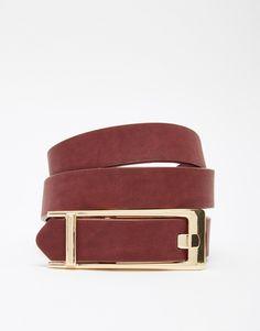 ASOS Rectangle Buckle Detail Waist And Hip Belt