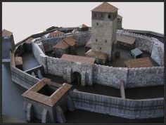 Medieval Castle And Other Building Paper Models Free Download