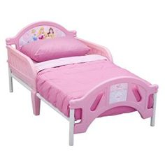 Disney Princess Pretty Pink Toddler Bed | Kids Cool Toys http://www.kidscooltoys.com/disney-princess-pretty-pink-toddler-bed/?utm_content=bufferc53e8&utm_medium=social&utm_source=pinterest.com&utm_campaign=buffer  #disney #princess #bed #birthday #gift #xmas #present #christmas