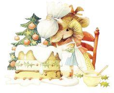 Vera la souris fait un gâteau pour Noël -  de Marjolein Bastin