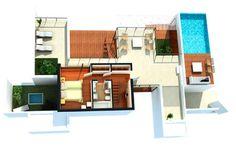 Casas modernas com plantas