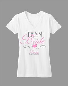 Bridal Party Tshirts.  great for bachelorette parties!   via Etsy.