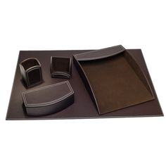 Darby Home Co Hinsdale 5 Piece Leatherette Desk Set & Reviews | Wayfair
