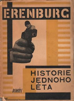 Karel Teige and Otakar Mrkvička - Cover for Historie jednoho léta, 1927