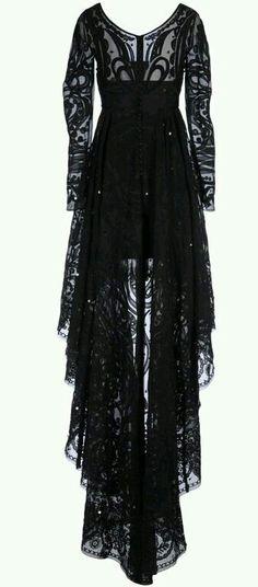 Black lace dress pastel goth Gothic punk