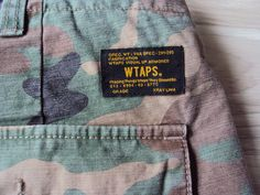 WTAPS BUDS 02 SATIN TROUSERS PANTS WOODLAND CAMO XL 4 36 SS15 COLLECTION JUNGLE | eBay