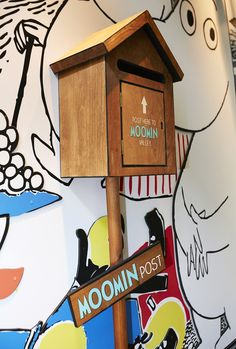 Thinking of a fun use for a mialbox in the home. Moomin Shop, Moomin Valley, House Yard, Retail Interior, Yard Ideas, New Homes, Interiors, Cool Stuff, Outdoor Decor