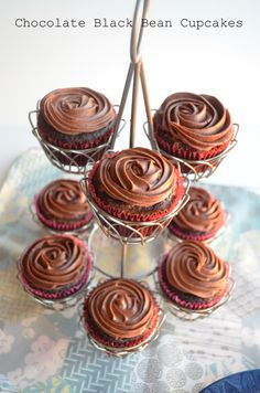 """""""You could've fooled me"""" chocolate black bean cupcakes... my dad asked for a healthy cupcake, these just may do the trick!"""