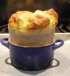 """August 15, 2011 Cheese Souffle Today would have been Julia Child's 99th birthday and to celebrate this I am making a cheese souffle for one, the recipeis from Judith Jones, """"The Pleasures of Cooking for One"""" the woman who startedJulia Child's publishing career."""