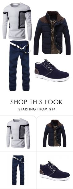 """Zaful #13"" by s-o-polyvore ❤ liked on Polyvore featuring men's fashion and menswear"
