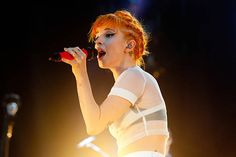 Hayley Williams of Paramore performs on May 15 2015 in Gulf Shores Alabama