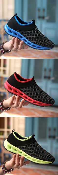 US$24.65 Men Textile Breathable Running Sneakers Outdoor Water Shoes#shoes #slippers #summer #simple #work