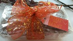 Lemon drizzle cake all wrapped up - ideal Christmas gifts