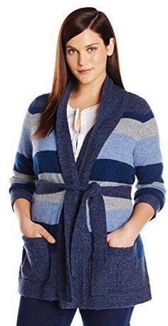 Pendleton Women's Plus-Size Totem Stripe Cardigan Sweater