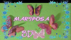 Mariposa 3D en foamy y con la técnica termoformado | Manualidades