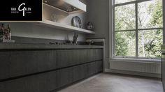 Keuken met houten vloer